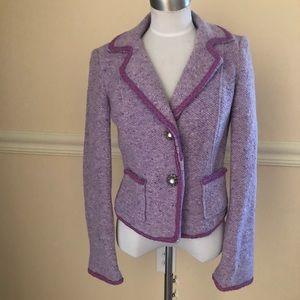 VS2 By Vakko purple wool blend tweed blazer 4